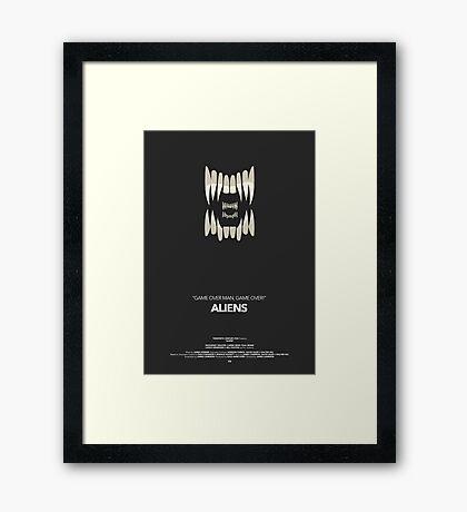Aliens Movie Poster Framed Print