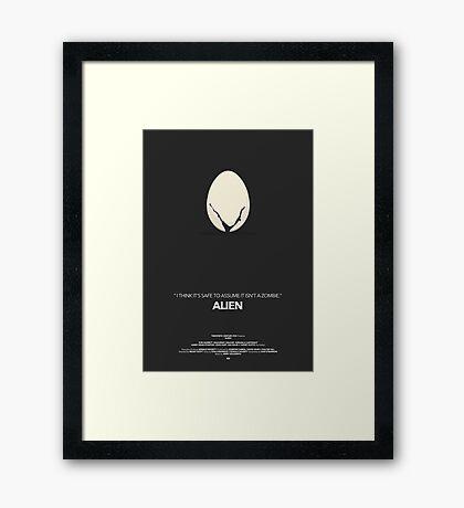 Alien Movie Poster Framed Print