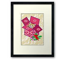 Fluffy in a gift Box (6360 Views) Framed Print