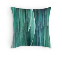 Planet Pixel Ocean Wave Throw Pillow