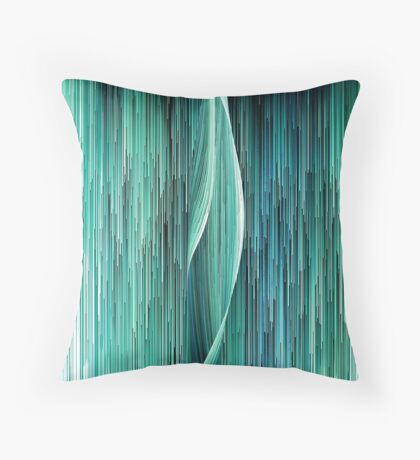 Planet Pixel Ocean Wave Throw Pillow