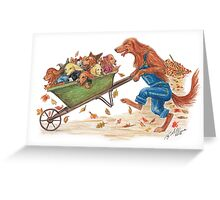 The kids get a ride! Greeting Card