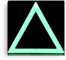 Triangle Gaming Icon Canvas Print