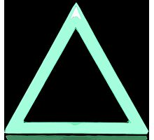 Triangle Gaming Icon Photographic Print