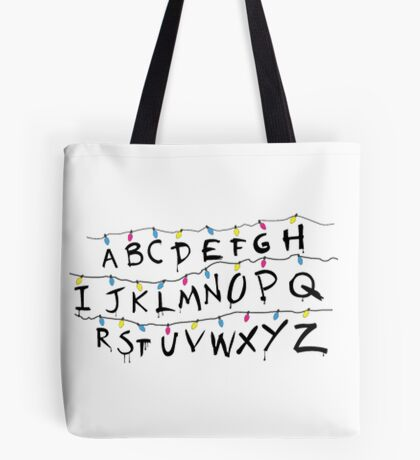 Stranger Things Alphabet Tote Bag