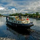 Boat on the river Shannon by Matthew Laming