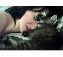 Mikino and Me - Sweet Sleep Photographic Print