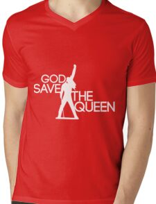 God save the queen Freddie Mercury design Mens V-Neck T-Shirt