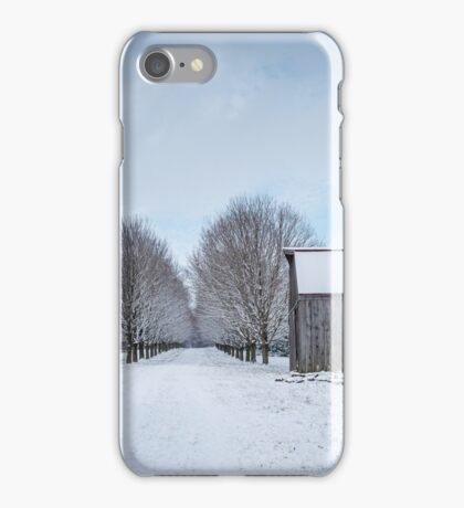 Snowy Lane iPhone Case/Skin