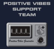 Positive Vibes Support Team One Piece - Short Sleeve