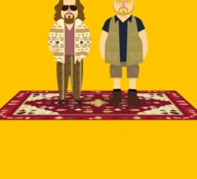 That rug really tied the room together. Sticker