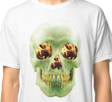 Skull with eyes of fire Classic T-Shirt