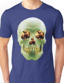 Skull with eyes of fire Unisex T-Shirt