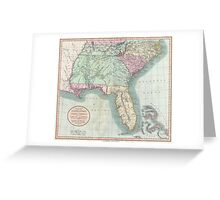 Vintage Map of The Southeastern U.S. (1806) Greeting Card
