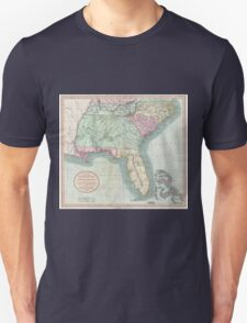 Vintage Map of The Southeastern U.S. (1806) Unisex T-Shirt
