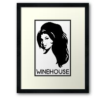 retrato de amy winehouse Framed Print