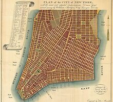 Vintage Map of Lower New York City (1807) by BravuraMedia