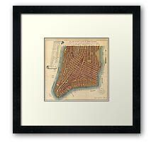 Vintage Map of Lower New York City (1807) Framed Print