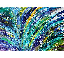Midnight in Paris Abstract Painting Photographic Print