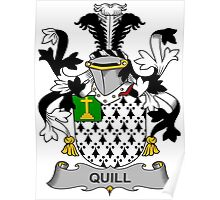 Quill Coat of Arms (Irish) Poster
