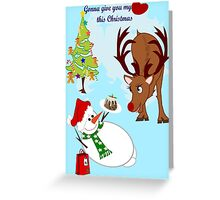 This Christmas, Gonna Give you my heart ! { 353 Views} Greeting Card
