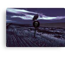 Death Road Dark Scene Canvas Print