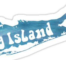 Long Island Watercolor Sticker