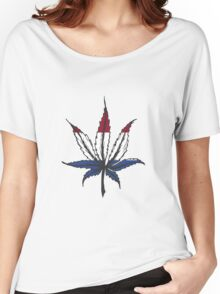 Cannabis (marijuana) leaf ,hand drawn Women's Relaxed Fit T-Shirt