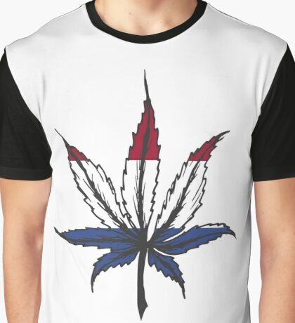 Cannabis (marijuana) leaf ,hand drawn Graphic T-Shirt