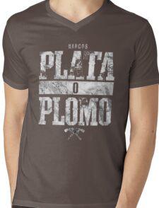 narcos plata o plomo Mens V-Neck T-Shirt