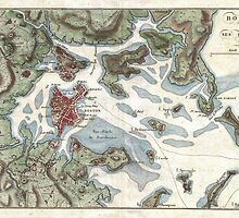 Vintage Map of Boston Harbor (1807) by BravuraMedia