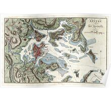 Vintage Map of Boston Harbor (1807) Poster