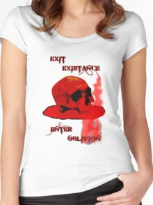 EXIT EXISTENCE - 097 Women's Fitted Scoop T-Shirt