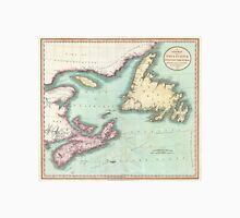 Vintage Map of Nova Scotia and Newfoundland (1807) Unisex T-Shirt