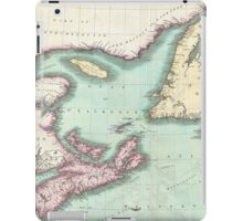 Vintage Map of Nova Scotia and Newfoundland (1807) iPad Case/Skin