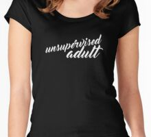 Unsupervised Adult - Ribbon - Dark Women's Fitted Scoop T-Shirt