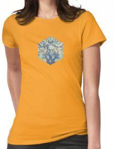 Blaue Totenköpfe (Abstarke Surreale Blue Geister Stunde) Womens Fitted T-Shirt