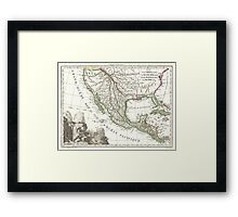 Vintage Map of Texas and Mexico Territories (1810)  Framed Print