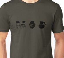 Makes a Meeting (Chairs, Literature, and Coffee) Unisex T-Shirt