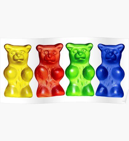 4 Gummy bears Poster