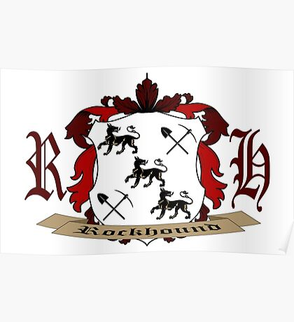 Rockhound Coat of Arms Poster