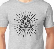 The All Seeing Pizza Funny Illuminati Reference Art Unisex T-Shirt