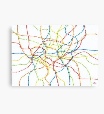 Railway network Canvas Print