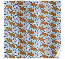Oh, Snap Gingerbread Pattern Poster