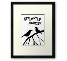 A murder of crows Framed Print
