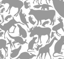 Background animals Sticker
