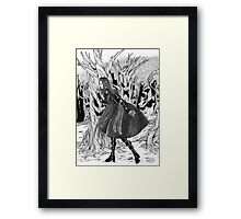 Where Did Mr.Rabbit Go? Framed Print