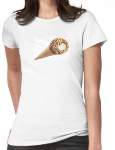Ice Cream cone chocolate and nuts Womens Fitted T-Shirt
