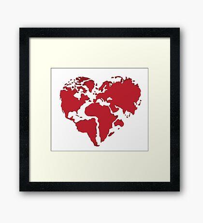 We need more Love Framed Print