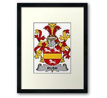 Rush Coat of Arms (Irish) Framed Print